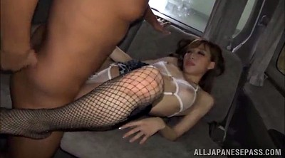 Car, Asian foot, Asian threesome