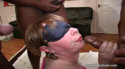 Wife blindfolded, Wife gangbang