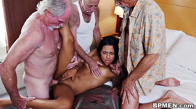 Old men, Old gangbang, Nikki