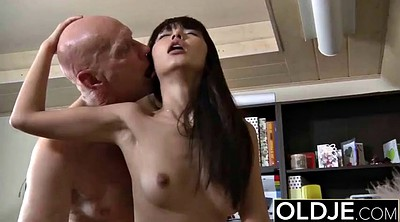 Asian granny, Old young, Cumshot pussy, She man