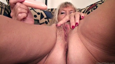 Mature dildo, Nancy, Skinny mature, Skinny granny