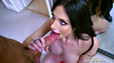 Stepson, On her knees blowjob, On her knees