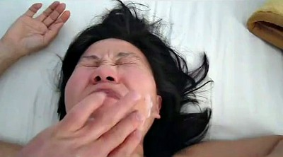 Asian wife, Cum on pussy