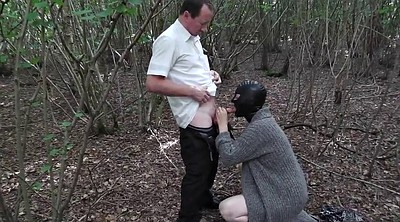 Stranger, Forest, Slut wife, Outdoor mature