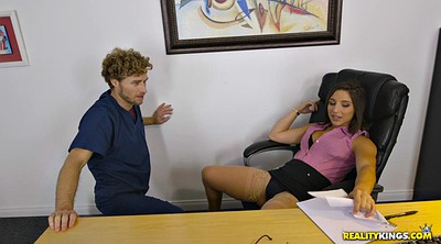 Hairy pussy, Office, Clothed