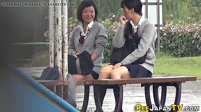 Japanese teen, Japanese student, Japanese outdoor, Naughty