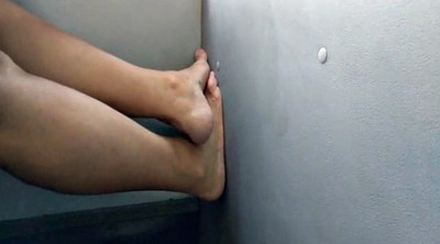 Bus, Foot job, Hidden cam, Job, Granny feet, Feet job