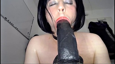Crossdresser, Dildo sucking, Crossdresser sex