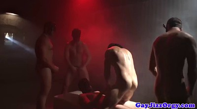 Gay orgy, Double anal