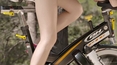 Sport, Balcony, Exercise, Clothes, Clothed, Bike