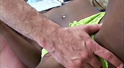 Young girl, Granny interracial, Old and young girl