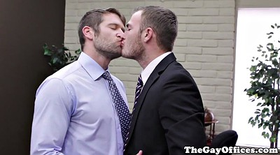 Office gay, Office handjob