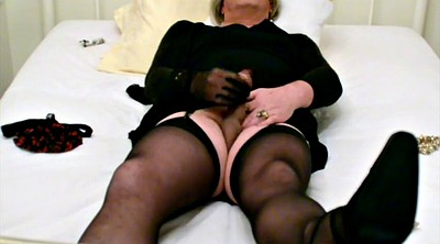 Tied, Self bondage, Stocking masturbation, Black stockings, Stocking orgasm, Self