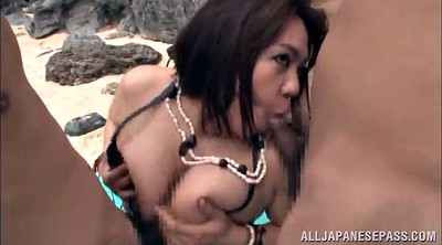 Beach, Asian outdoor, Asian gangbang, Asian beach