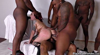 Interracial gangbang, Anal interracial