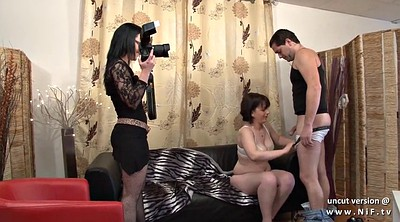 Anal casting, French anal, Facial, French milf