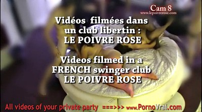 Private, French amateur, French couple, Swinger party