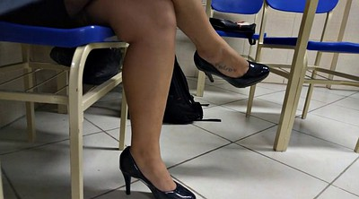 Voyeur, Candid, Tatoo, High heeled