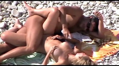 Nudist, Beach sex, Voyeur couple, Public couple