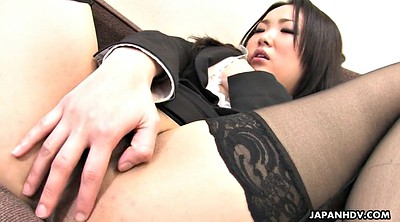 Stocking, Nylon, Japanese office, Japanese solo, Japanese stocking, Office masturbation