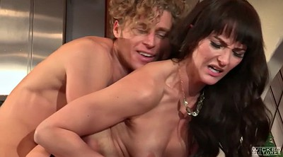 Kitchen, Hairy guy, Fingering and licking, Bianca breeze