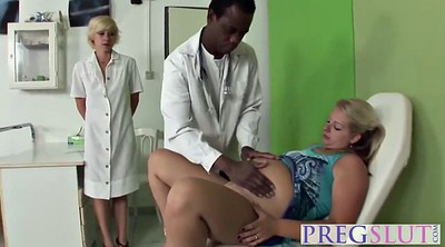 Pregnant, Black milf, Blonde threesome