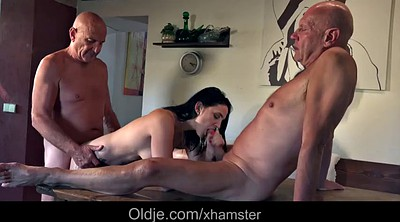 Granny masturbation, Young guy, Granny threesome, Teen and old, Old guy, Flirt