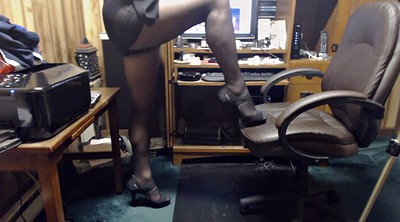 Crossdresser, Black pantyhose, Crossdresser pantyhose