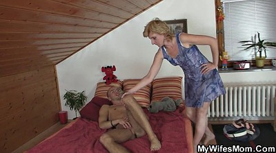 Hot mom, Old wife, Young cum