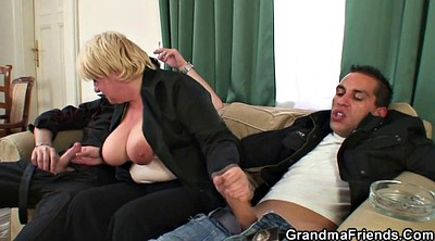 Granny, Pick up, Threesome young, Mature pick up