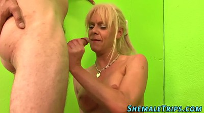 Anal creampie, Shemale creampie
