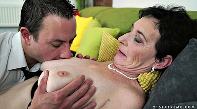 Shaved, Younger, Granny facial, Pay, Older woman, Old woman