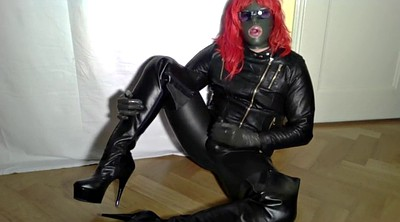 Gay boots, Gay leather, Crossdressers, Crossdress, Gay cumshots