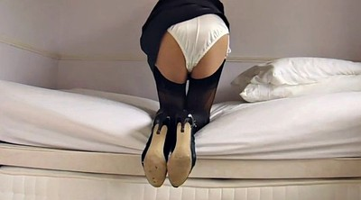 Stockings, Nylon stockings, Miniskirt, Ebony stockings