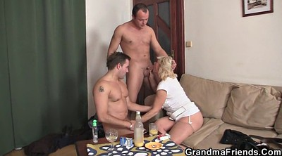 Mature double, Mature blonde, Double dick