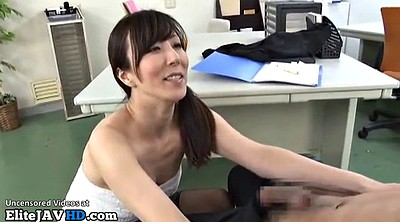 Feet, Japanese massage, Japanese mature, Japanese office, Shy, Japanese handjob