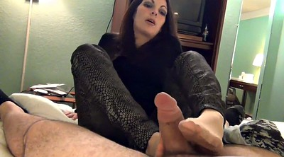 Nylon feet, Footjob cumshot, Nylon footjob