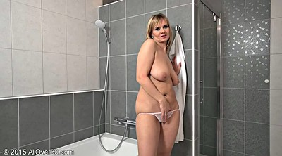Busty mom, Mature mom, Mom shower