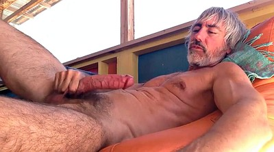 Dad, Chair, Gay dad, Cock masturbation, Dad gay