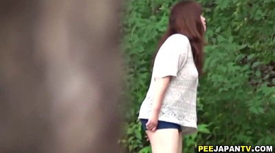 Piss, Pissing, Girl, Japanese piss, Japanese pissing, Outdoor pissing