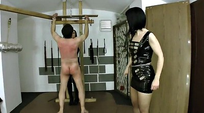 Whipping, Male slave, Femdom whip