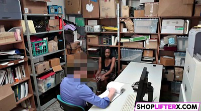 Shoplifter, Busty teen, Shoplift, Black busty