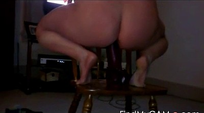 Chubby solo, Huge ass, Milf solo, Dildo ride, Huge dildo