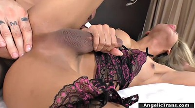 Bed, Shemale anal, Tranny handjob, Screw