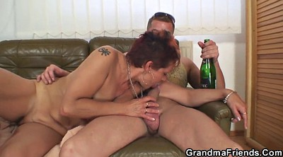 Grandma, Old and young, Wife threesome