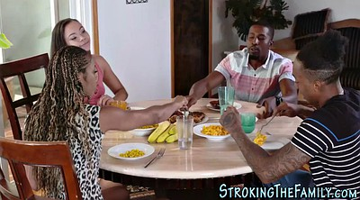 Jizz, Teen black, Ebony teen, Stepmom facial