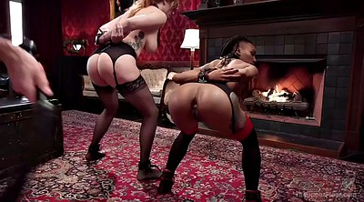 Bondage, Ass to mouth, Mouthful, Hairy redhead, Hairy girl, Ass to mouth threesome