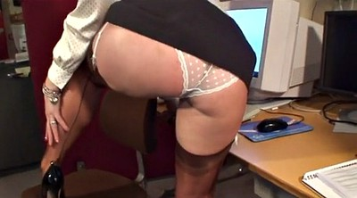 Milf, Sexy nylons, Nylon office