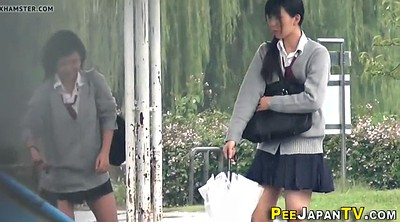 Student, Japanese outdoor, Japanese pee