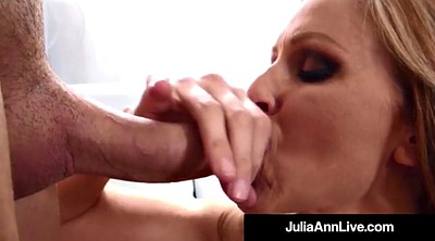 Julia ann, Anne, Hot milf, Cum on tits